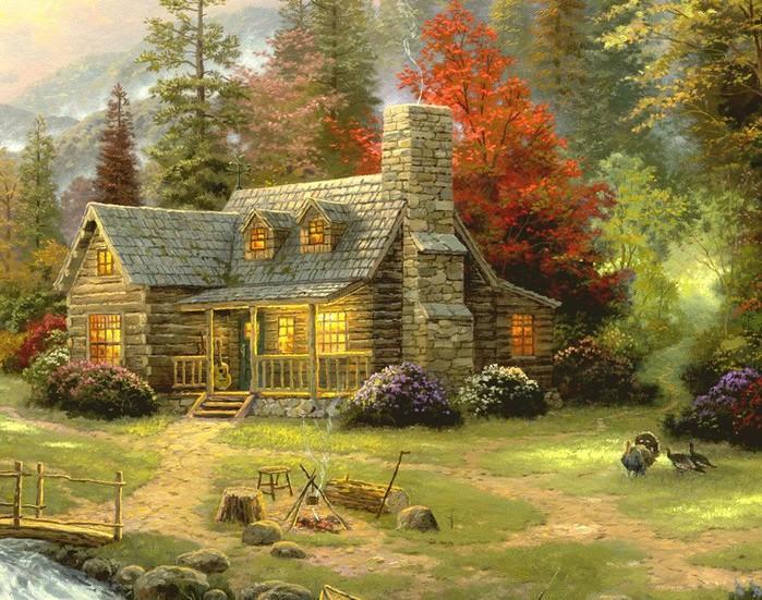 домики лесные фото